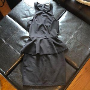 Mini peplum dress